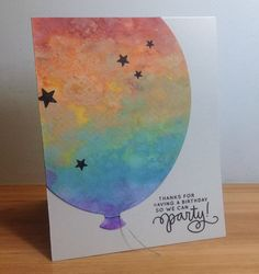 Hello and welcome! Today, I've been playing with my distress oxide inks. I used them to create a rainbow panel, from which I die cut a large...