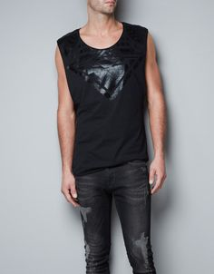 OBSESSED - T-SHIRT WITH FOIL YOKE - T-shirts - Man - New collection - ZARA United States