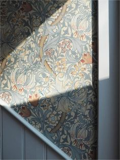 A long weekend at Babington House William Morris wallpaper Traditional interiors Country interiors Apartment Apothecary Wallpaper Accent Wall, Morris Wallpapers, Lily Wallpaper, William Morris Wallpaper, Pattern Wallpaper, Traditional Interior, William Morris Designs, Country Interior, Babington House