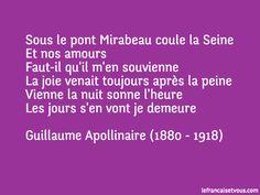 Il y a quelques jours, l'œuvre du poète et écrivain Guillaume Apollinaire est entrée dans le domaine public. Voici un extrait du #poè...