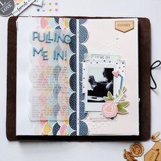 'Pulling me in' Traveler's Notebook Spread by Peggy Emmrich | @FelicityJane