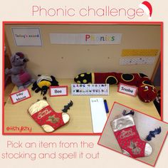 Stocking Phonics: Pick An Item From the Stocking & Spell it Out (from TishyLishy)