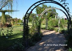 Love these metal arched arbors www.penick.net