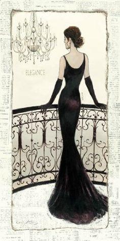 La Belle Noir Poster Print by Emily Adams (15 x 30) The Poster Corp,http://www.amazon.com/dp/B00FWJOF64/ref=cm_sw_r_pi_dp_HU-Vsb1KCFZPXRVS