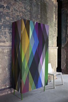 colorful patterned armoire