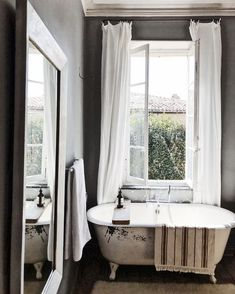my scandinavian home: Could You Be The Next Owner of This Delightful B&B in South of France? Rustic bathroom with claw foot tub. Bathroom Interior, Modern Bathroom, Bathroom Vintage, Master Bathroom, French Country Style, Scandinavian Home, South Of France, Clawfoot Bathtub, Minimalist Home
