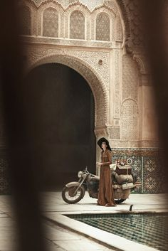 Peter Lindbergh for Vogue US, June 2013 in Morocco | Edie Campbell styled by Grace Coddington