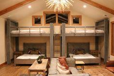 Diy attic remodel cost for room design bunk travel plans home improvement stunning basement bedroom setup Queen Bunk Beds, Adult Bunk Beds, Bunk Bed Rooms, Bunk Beds Built In, Cool Bunk Beds, Bunk Beds With Stairs, Kids Bunk Beds, Bunk Beds For Adults, Bunk Bed Sets