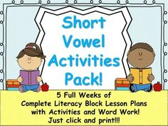 Short Vowels, Lesson Plans and Activities Bundle! by Mrs Wenning's Classroom | Teachers Pay Teachers