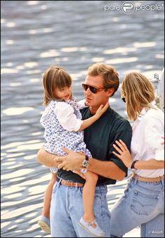 Stefano Casiraghi et sa fille Charlotte en Septembre 1990