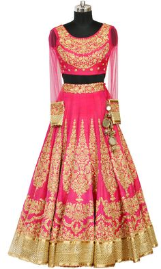 Pink & Gold Bridal Lehenga