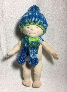 blau grün 30 cm für JAKO-O Krümelchen Winterset = Mütze und Schal