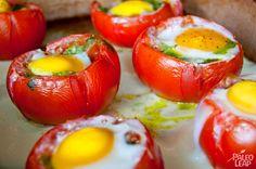 Egg And Pesto Stuffed Tomatoes #PaleoLeap
