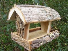 RUSTIC  Bird feeder / squirrel feeder --- handmade in Appalachian mountains of NC on Etsy, $26.00