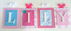 Lovey Letters by Leah. Custom made nursery letters. Hand carved and decorated to fit any style decor. Size 8x10 frame. https://www.etsy.com/shop/LoveyLettersbyLeah?ref=si_shop