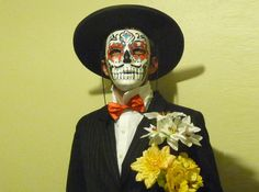 Dia de los Meurtos Halloween costume for a man