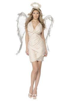 Womens Fallen Angel Costume with Wings #halloween