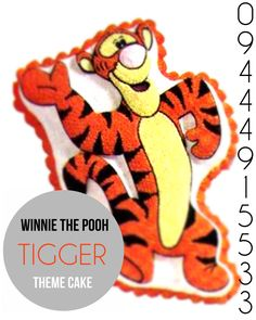 Adorable Winnie the Pooh #tigger #themed cake for special #birthday celebration from #cakepark, do order online by clicking :http://www.cakepark.net/tiger-cp24.html / also reach us at for more information: 09444915533