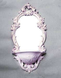 Pearl PINK Repainted Vintage SYROCO Mirror . . . by tupolohoney,