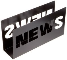 Present Time Metal News Magazine Rack, Black by Present Time, http://www.amazon.com/dp/B001CISYKW/ref=cm_sw_r_pi_dp_QFY7qb1HB86FR