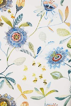 Garden Buzz Wallpaper - anthropologie.com #anthrofave