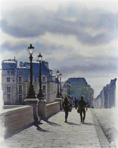 Thierry Duval - Paris, watercolors