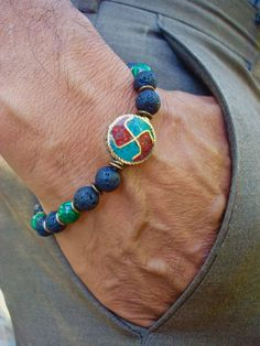 Men's Spiritual Healing and Protection Bracelet by tocijewelry