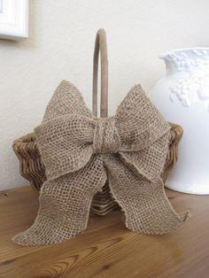 Rustic Flower Girl Basket/ burlap/wedding/ Bride/ by ryeleighrose, $20.00
