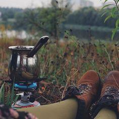 My morning ritual coffee outdoor #Regram via @kristinka_skl)