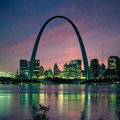St. Louis Arch. Gateway to the West. The ride up to the top is very interesting. Have to do it at least once...