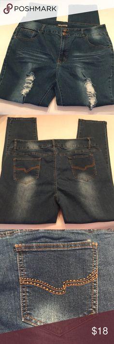 """EUC Stretchy PLUS SIZE jeans skinny jeans Size 24 EUC Stretchy PLUS SIZE jeans skinny jeans Size 24.   Inseam- Approximately 31"""" Jack David Jeans Skinny"""