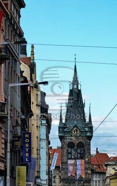 Jindrisska Tower - the highest belfry in Prague, Czech Republic