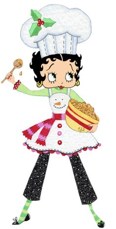 Betty Boop Pictures Archive: Animated #gif of Betty Boop for Christmas - Xmas Cook