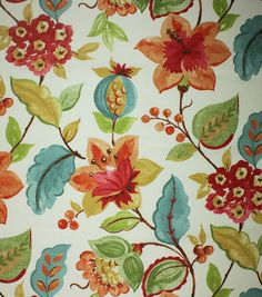 Home Decor  Print Fabric- Richloom Studio  Anamarie Aspen  I think I'd like this as my inspiration print for Malia's room