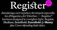 Register* by A2-TYPE http://www.a2-type.co.uk/