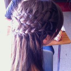 my newly invented braid! (: #talentedcousin