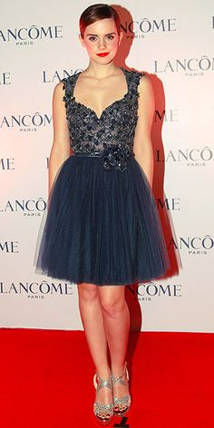 Emma Watson looking like a beautiful ballerina in Elie Saab