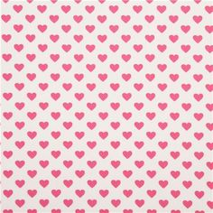 white cute heart fabric by Michael Miller USA