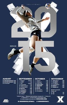 PosterSwag.com Top-30 NCAA Volleyball Schedule Posters. #smsports #sportsbiz | Poster Swag