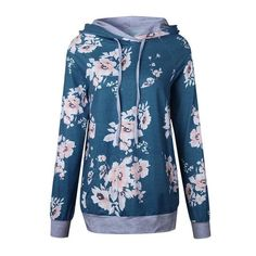 Printed Floral Hoodies Women 2017 Autumn Winter New Fashion pullovers #fashionhoodieswomens