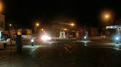 Nocturna  - Peatonal Fontana de la ciudad de Rawson - Rawson Chubut Argentina.