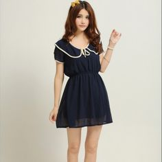 Wire sexy peter pan collar clothing short skirt solid color short-sleeve a one-piece dress basic one-piece dress