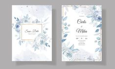 Beautiful Wedding Invitations, Floral Wedding Invitations, Wedding Invitation Templates, Samhain, Banner, Elegant, Blue, Banner Stands, Classy