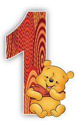 Alfabeto de Winnie the Pooh con fondo en tonos marrón. | Oh my Alfabetos!