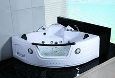 2 Person Hydrotherapy Computerized Massage Indoor Whirlpool Jetted Bathtub Hot Tub 050A WHITE