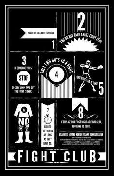 Hang this in Man Cave  Way too many people breaking Rule #1 on Facebook http://www.facebook.com/FightClub
