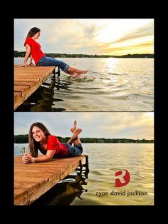 Brookney dock. Location senior portraits. Sunset senior portraits. Girls senior portraits. Fayetteville, NC