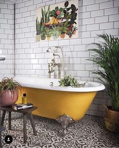 If you have a small bathroom in your home, don't be confuse to change to make it look larger. Not only small bathroom, but also the largest bathrooms have their problems and design flaws. Bathroom Decor Apartment, Bathroom Interior, Industrial Bathroom Decor, Bathrooms Remodel, Interior, Bathroom Design, Yellow Bathrooms, Earthy Bathroom, Bathroom Design Decor