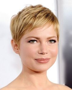 Blonde pixie cut for fine, straight hair
