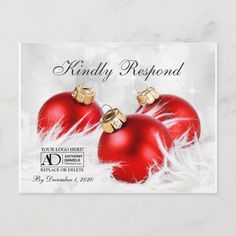 Business Christmas Party Invitation RSVP Card #business #christmas #party #invitations #with